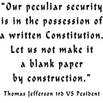 A Blank Constitution