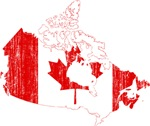 Canada Flag And Map