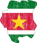 Suriname Flag And Map