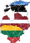 Baltic States Flag And Map