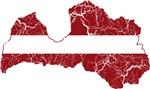 Latvia Flag And Map