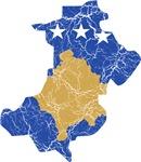 North Kosovo Flag And Map
