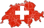Switzerland Flag And Map