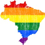 Brazil Rainbow Pride Flag And Map