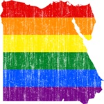 Egypt Rainbow Pride Flag And Map