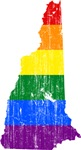 New Hampshire Rainbow Pride Flag And Map