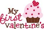 1st Valentines Day Cupcake