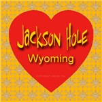 Jackson Hole Wyoming Golden Snowflake Heart