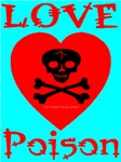 Love Poison Blood Red Skull Heart