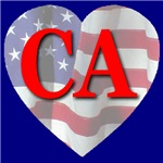 Love CA Flag Heart