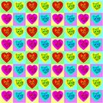 64 Cat Heart Quilt #2