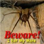 Beware! I Eat My Mate Yellow Font