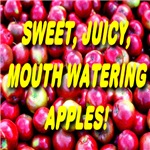 Sweet, Juicy, Mouth Watering Apples