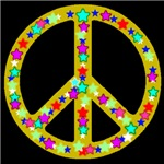 Peace Symbol Midnight Bronze Stars