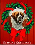 Season's Greeting St. Bernard