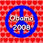 Obama 2008 Peace & Love Symbol