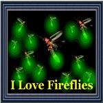 I Love Fireflies Framed