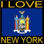 I Love New York State Flag Print