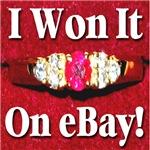 I Won It On Ebay!  Diamond & Ruby Ring