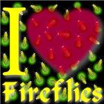I Love Fireflies Ruby Red Heart