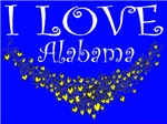 I Love Alabama Hearts of Gold