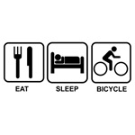 Eat sleep bicycle