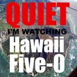 Quiet Im Watching Hawaii Five 0