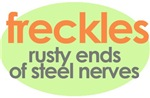 Freckles: rusty ends of steel nerves