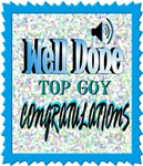 well done top guy congratulations illustration