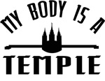 My Body is a Temple Black - LDS T-Shirt