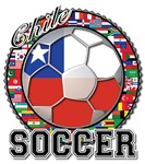 Chile Flag World Cup Soccer Ball with World Flags