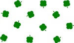 Lucky Irish Four Leafed Clover Pattern