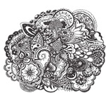 Pen and Ink Detailed Line Drawing