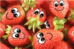 Cute Happy Strawberries
