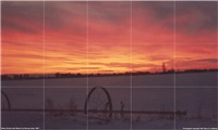 Idaho Winter Sunset Tile Mural