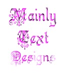 Lots of Mainly Text Designs