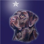 Chocolate Lab Xmas Star