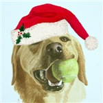 Peanut the Yellow Labrador Christmas
