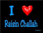 Jewish I Love Raisin Challah
