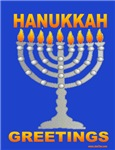 MENORAH  GREETINGS HANUKKAH