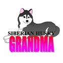 Black Siberian Husky Grandma