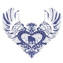 Bulldog Blue Winged Heart