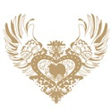 American Eskimo Tan Winged Heart