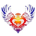 Pig Rainbow Winged Heart