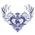 Papillon Blue Winged Heart
