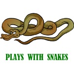 Plays With Snakes T-Shirts