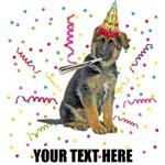 Personalized German Shepherd Birthday T-Shirts