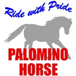 Ride With Pride Palomino Horse T-Shirts