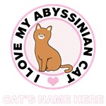 Personalized Abyssinian Cat T-Shirts