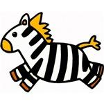 Cute Zebra Cartoon T-Shirts